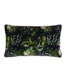 Arcadian Woods green 30 x 50 velvet cushion