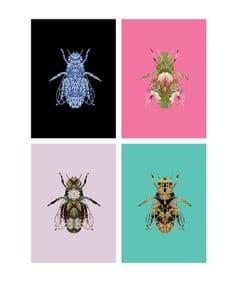 Bee Life 8 notecards in keepsake box