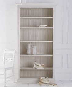 Bespoke painted Breton open bookcase