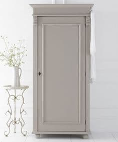 Bespoke painted French Empire single wardrobe full hanging