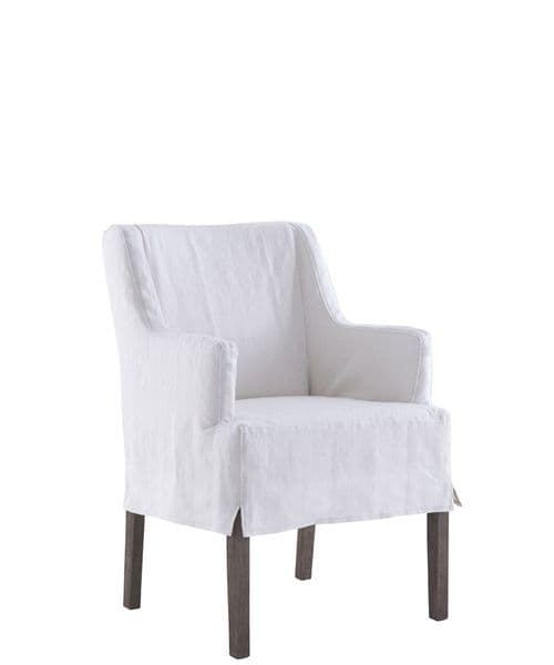 Boho&Co Home loose cover for dining chair  with high arms