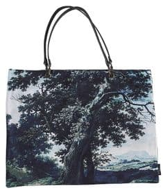 Boho&Co Trees Two Multi velvet shoulder bag