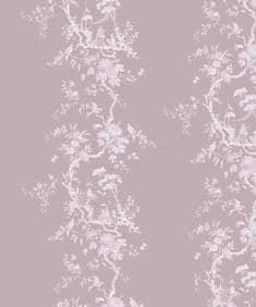 Chinoiserie flow velvet - Lilas - 2.5m end of roll
