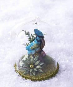 Cody Foster Collectables crested bluebird globe decoration