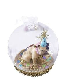 Cody Foster collectables Party Bulldog globe decoration