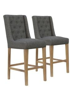 Deauville bar stools - dark grey