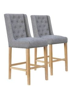 Deauville bar stools - light grey
