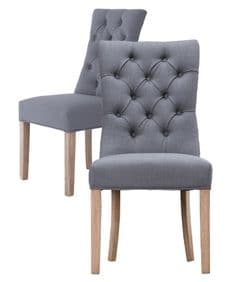 Deauville deep-button dining chair - grey
