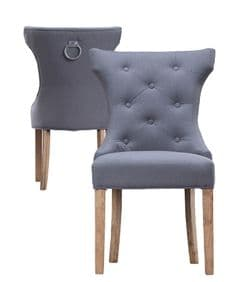 Deauville Ring dining chair - grey