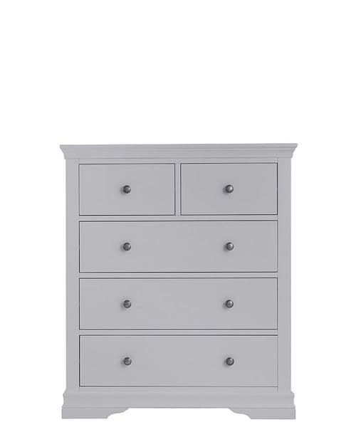 English Heritage 2 over 3 chest of drawers - dove grey