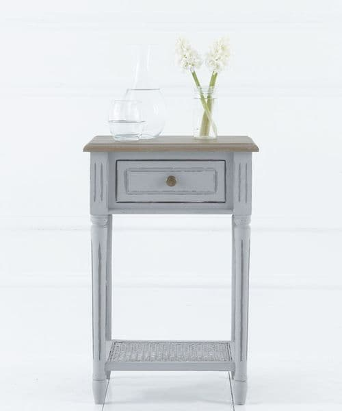 French House Gris & Elm painted bedside table | Angel and Boho