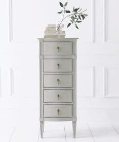 French House handpainted tallboy - French Greige