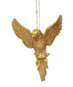 Gold  hovering parrot decoration