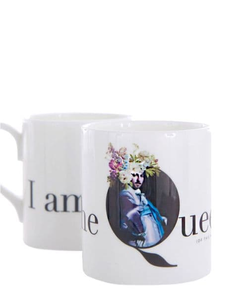 I am the Queen (of this house) bone china mug -Camp Cavalier