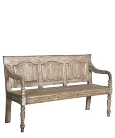 Modern Rustic reclaimed wood bench