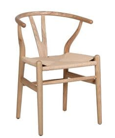 Natural wood Mid-Century chair