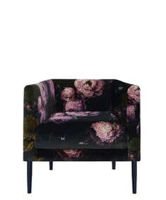New Romantics  Boho&Co Floralism velvet armchair and footstool