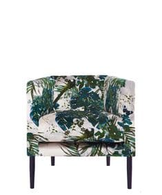 New Romantics Boho&Co Leaferie velvet armchair and footstool