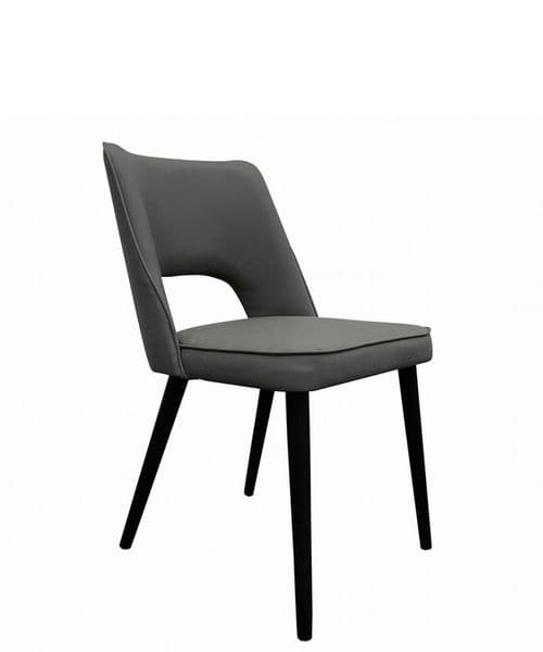 Orla upholstered home ofice/dining chair with open back - linen