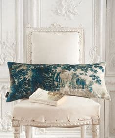 Paradise Lost 65 x 30 velvet cushion - left