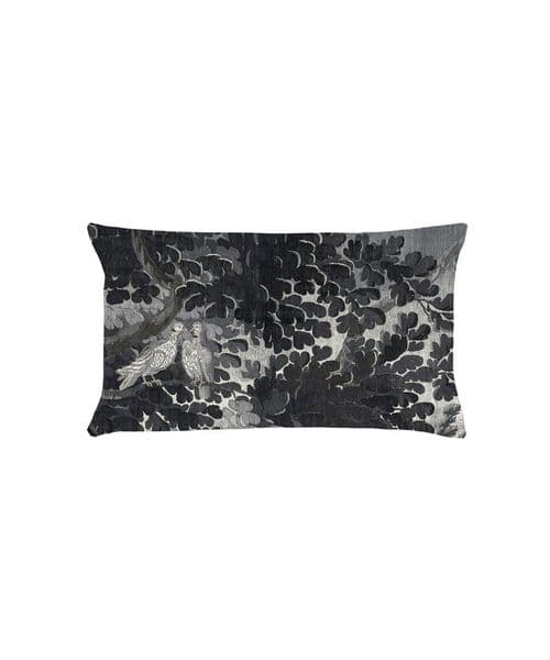 Paradise Lost Grisaille  40 x 22 velvet gift/travel/neck cushion