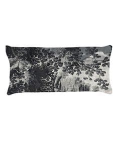 Paradise Lost Grisaille 65 x 30 velvet cushion - right or left facingleft