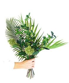 Shades of Green hand-tied bouquet
