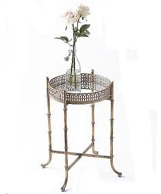 Small gold  mirrored tray table