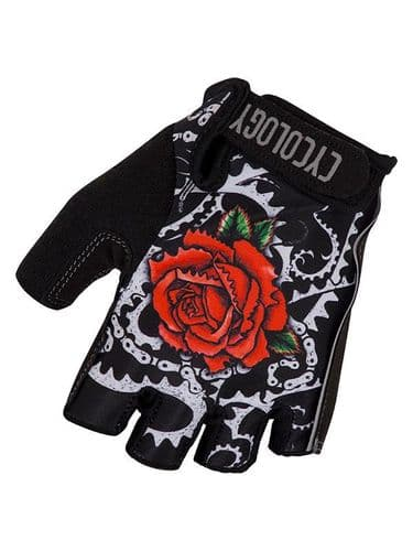 Cycology Black Rose Cycling Gloves