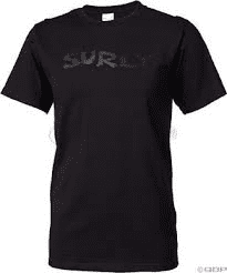 Surly Logo T-shirt - Black On Black