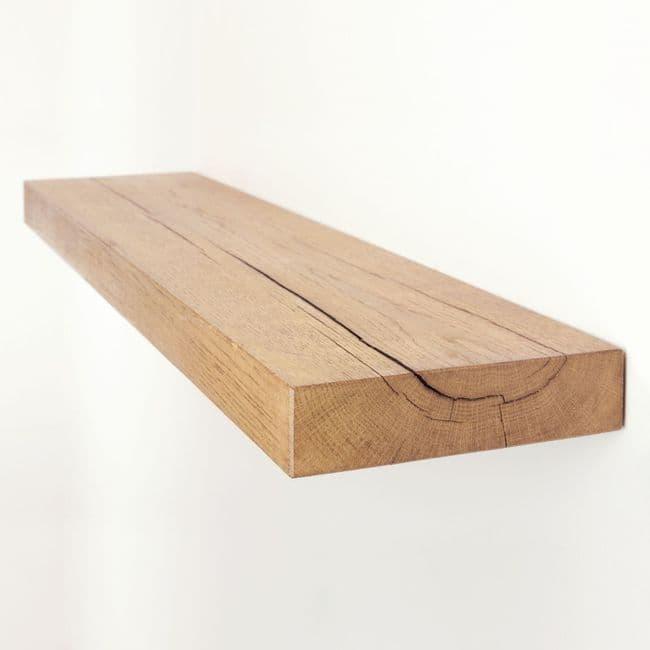 Solid Oak Floating Shelf - 8x2   Funky Chunky Furniture