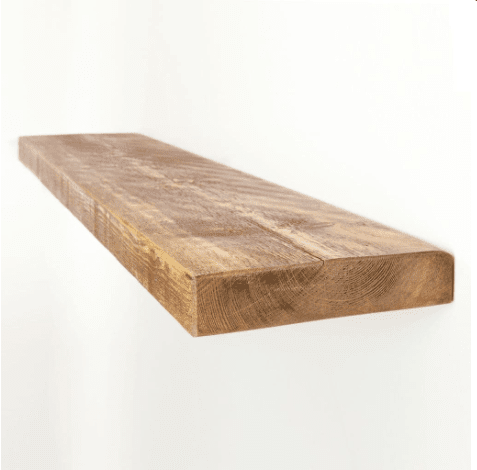 Rustic Floating Wooden Shelf - 9 x 2 Inch| Choice Of Lengths & Colours