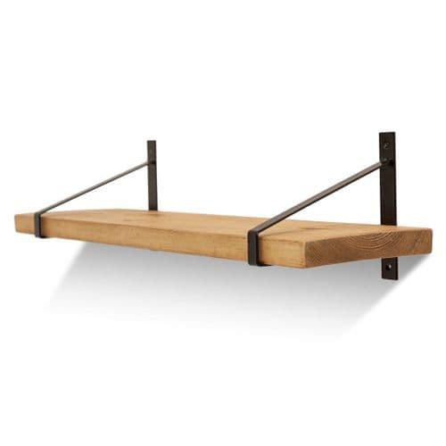 Armstrong Solid Wood Shelf & Brackets - 9x1.5 Smooth Shelf (22cmx3.5cm)