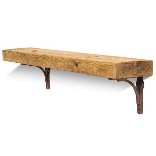 Birtley Copper Solid Wood Shelf & Brackets -  6x2 Rustic Shelf (15cmx5cm)