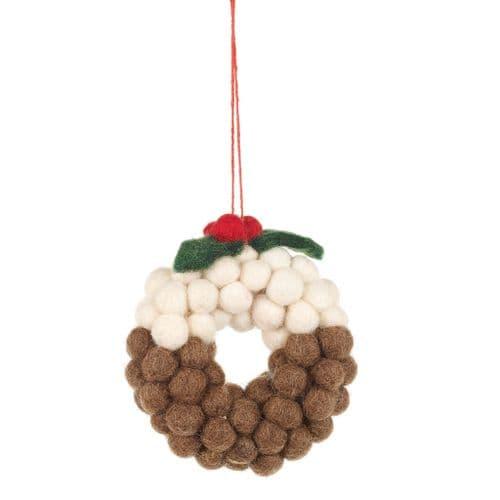 Felt Christmas Pud Balls Decorations