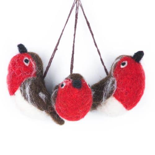 Felt Robins Decoration