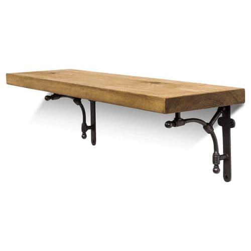 Tanfield Solid Wood Shelf & Brackets - 9x1.5 Smooth Shelf (22cmx3.5cm)