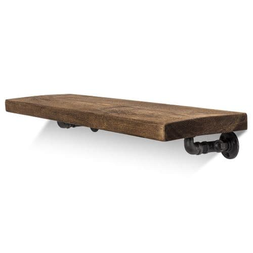 Wingate Solid Wood Shelf & Brackets - 9x1.5 Rustic Shelf (22.5cmx4cm)