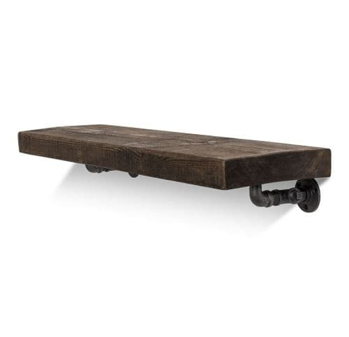 Wingate Solid Wood Shelf & Brackets - 9x2 Rustic Shelf (22.5cmx5cm)