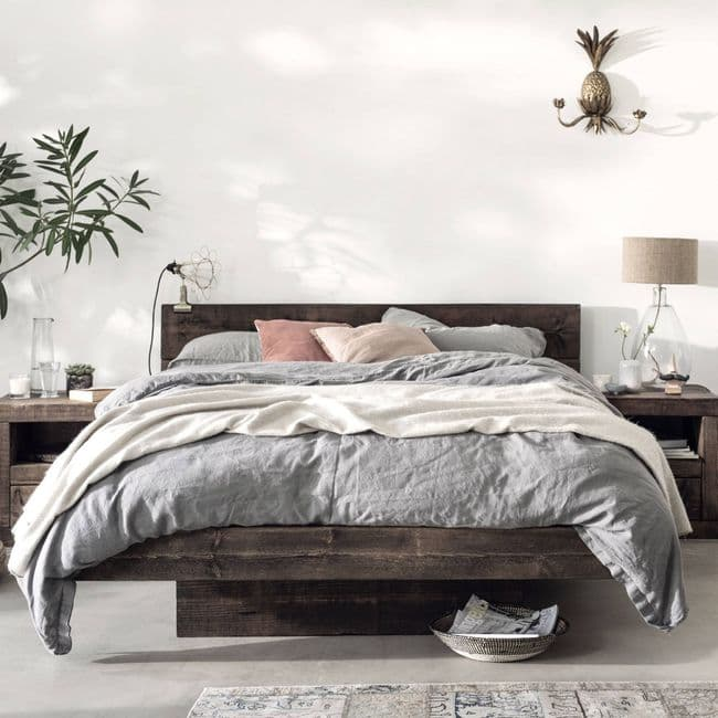 Baltic Wooden Floating Bed Frame | Funky Chunky Furniture