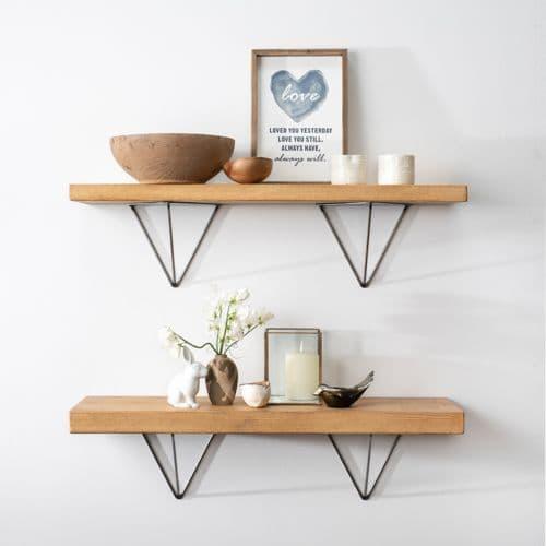 Bracketed Shelves