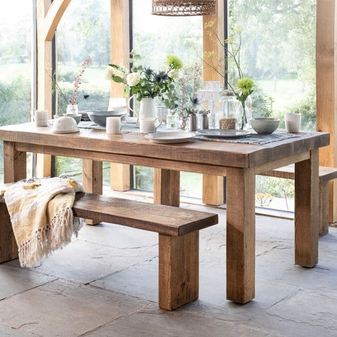 Chopwell Dining Table And Benches