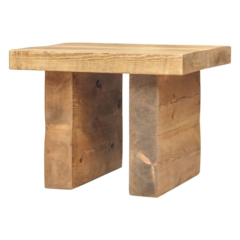 Chopwell Rustic Chunky Side Table - Tall