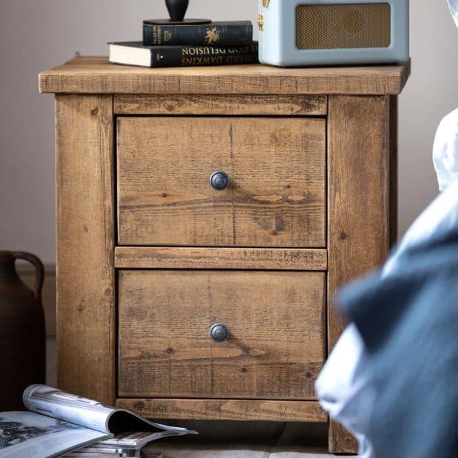 Coleridge 2 Drawer Bedside Table