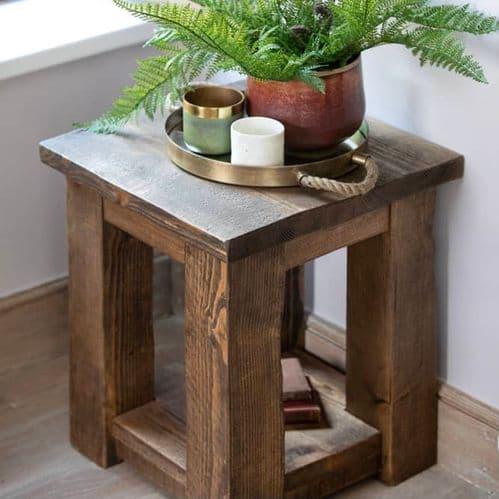 Coleridge Side Table With Shelf