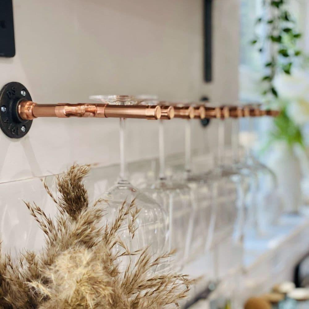 Copper Wine Glass Holder