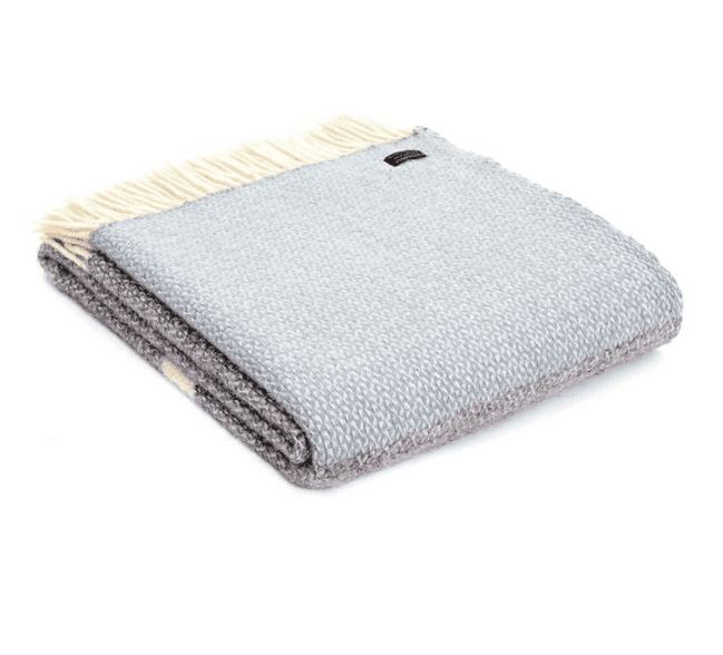 Duck Egg Blue Wool Throw|Home Accessories