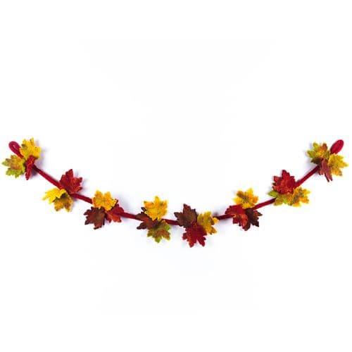 Felt Autumn Leaves Garland