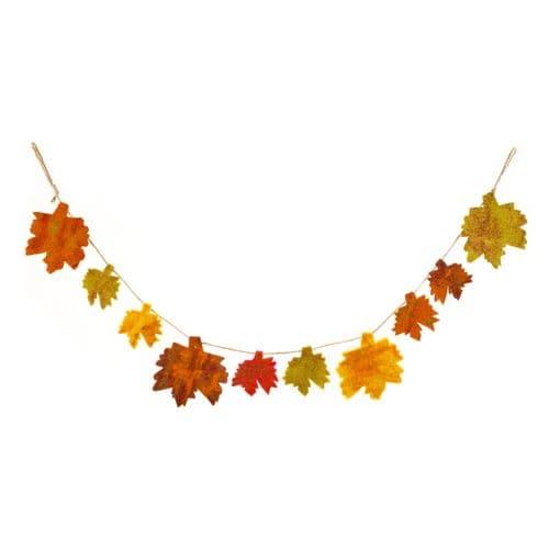 Felt Autumn Leaves String