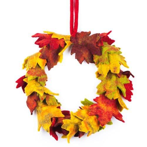 Felt Autumn Wreath